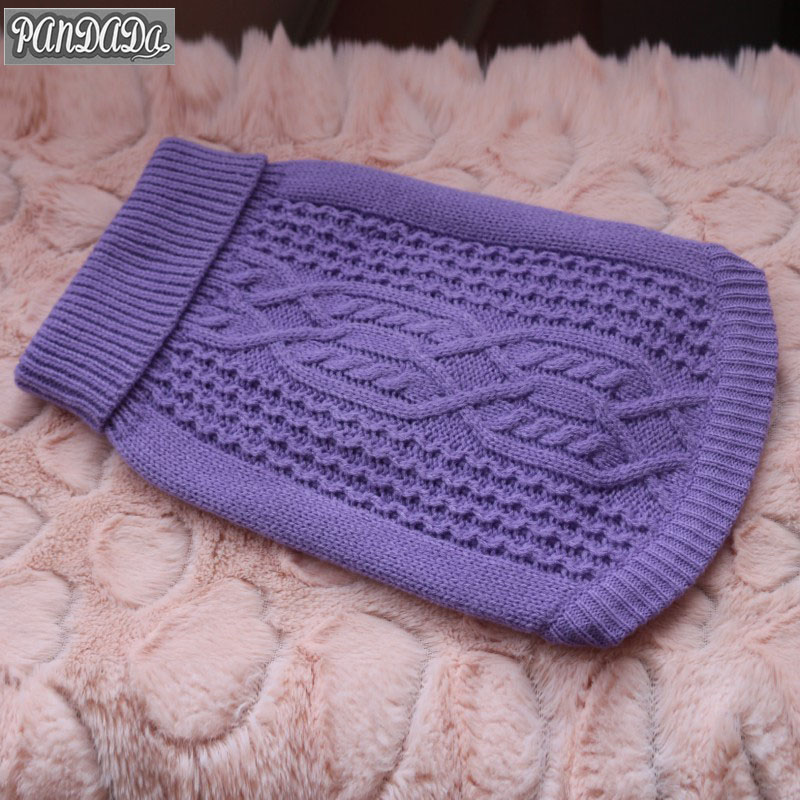 panDaDa Dog Sweater Clothes For Dogs Sweater Jacket Small Pet Dog Jersey Warm