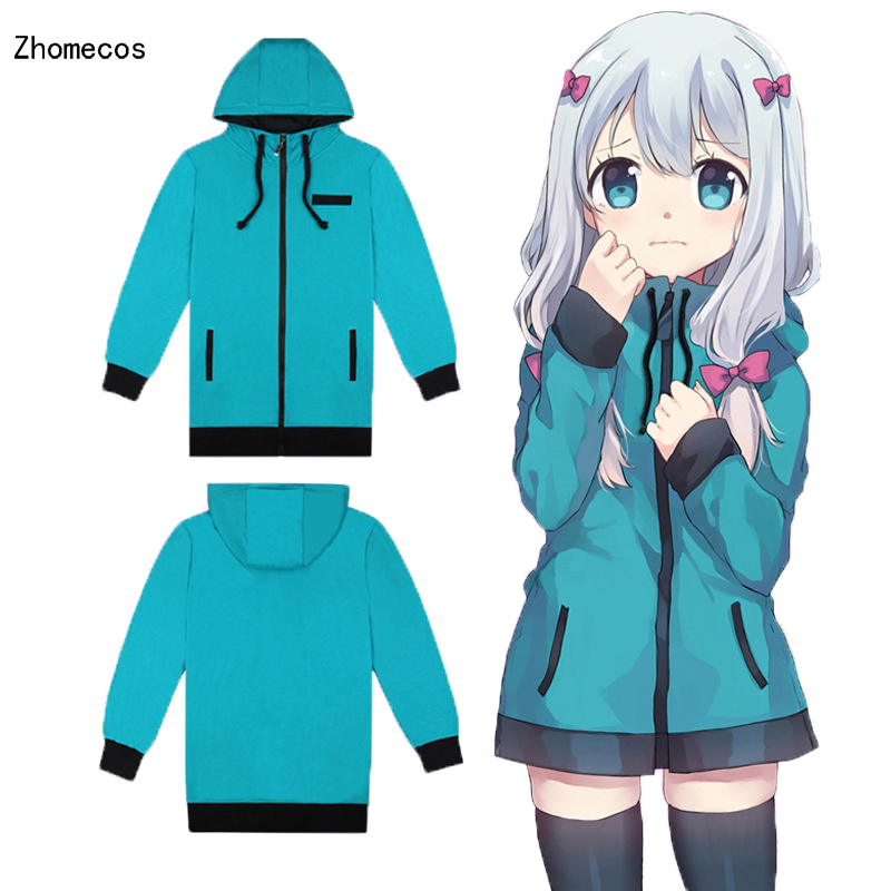 Cotton Anime Eromanga Sensei Izumi Sagiri Costume Hoodie or Pajamas Coat For Woman or Girls Cosplay Size S-XXL
