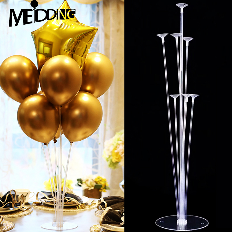 <font><b>7</b></font> <font><b>Tubes</b></font> <font><b>Balloons</b></font> <font><b>Stand</b></font> <font><b>Balloon</b></font> <font><b>Holder</b></font> Column Confetti Globos Stick Baby Shower Kids Birthday Party Wedding Decoration Supplies image