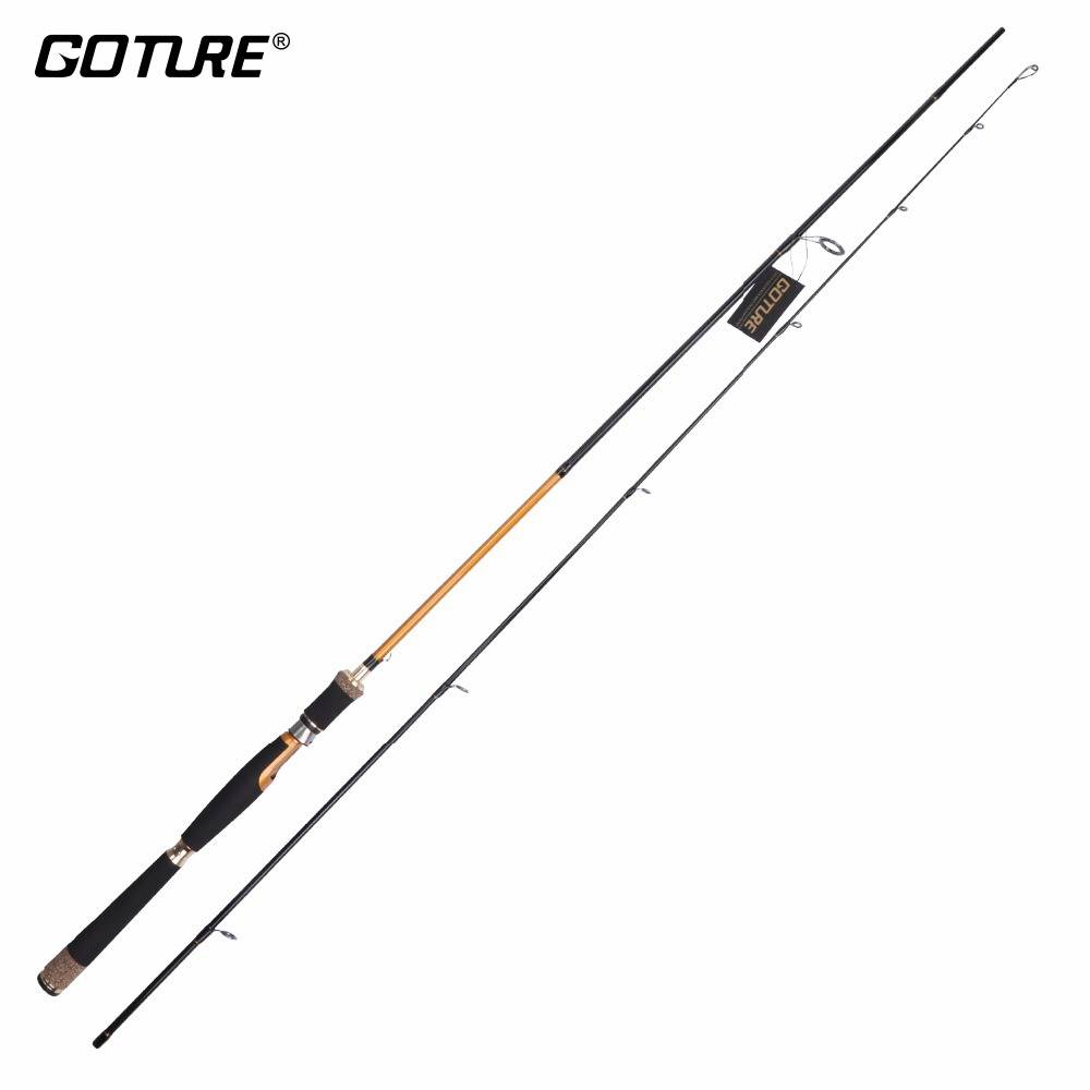 Goture Carbon Fiber Spinning Fishing Rods 2.1m 2.4m Medium Fast Action Casting Rod Lure Fishing Pole For Bass Trout Pike goture bait casting fishing rod pike rods 2 1m 2 4m m power 2 sections carbon fiber fishing pole lure rods