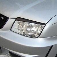Jetta Carbon Fiber Car Styling Head light Eyebrows cover trim sticker for Volkswagen 2001 2005