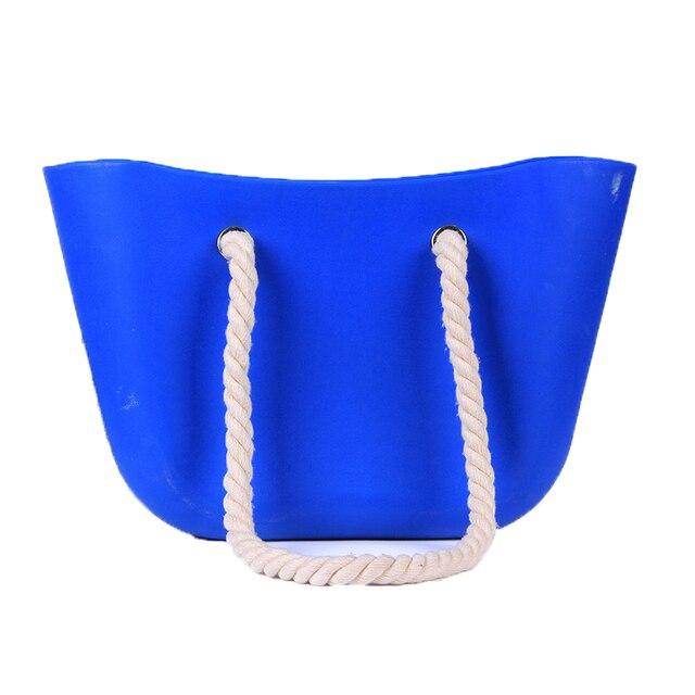 YESIKIMI Women Silicone Bag Casual Tote Beach Purses Candy Color Silica Gel Handbag With Rope Handle Italian Bag Bolsas