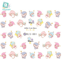цена на DLS001-010 Water Transfer Nail Foil Sticker Art Paiting Harajuku Cute Cartoon Girl Nail Wraps Sticker 2D Manicure Decor Decals