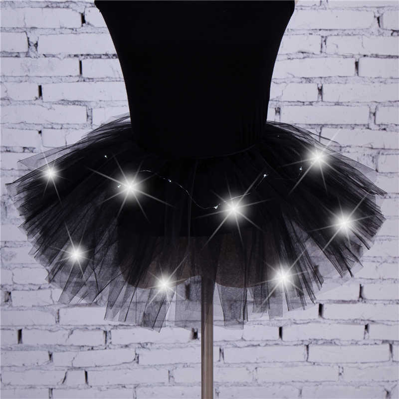 2018 Gadis Gaya Baru LED Light Up Tulle Rok Tutu Menari Mewah Hip Hop Hen Partai Halloween Costume 8 Warna