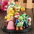 Super Mario Bros Bowser Princesa Peach Yoshi Luis Toad Goomba PVC Figuras de Acción Juguetes KT1365