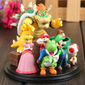 Super Mario Bros Bowser Princess Peach Yoshi Luigi Toad Goomba PVC Action Figure Toys KT1365