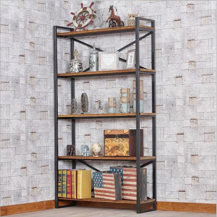 Прямая продажа с фабрики американских ретро дерево кованого железа Полки шкафы Полки книга Полки 20151
