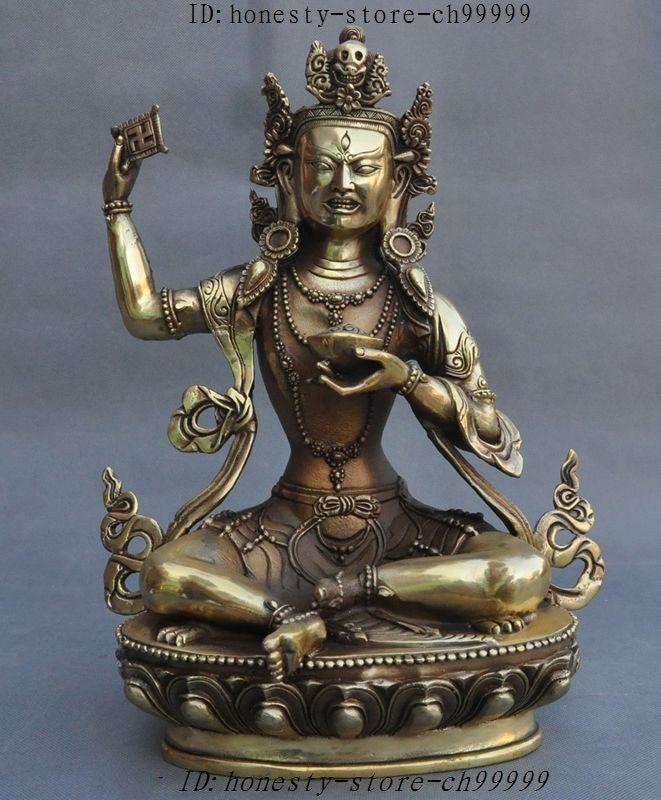 christmas Tibet Buddhism Fane Brass Copper Padmasambhava Guru Rinpoche God Buddha Statue halloween