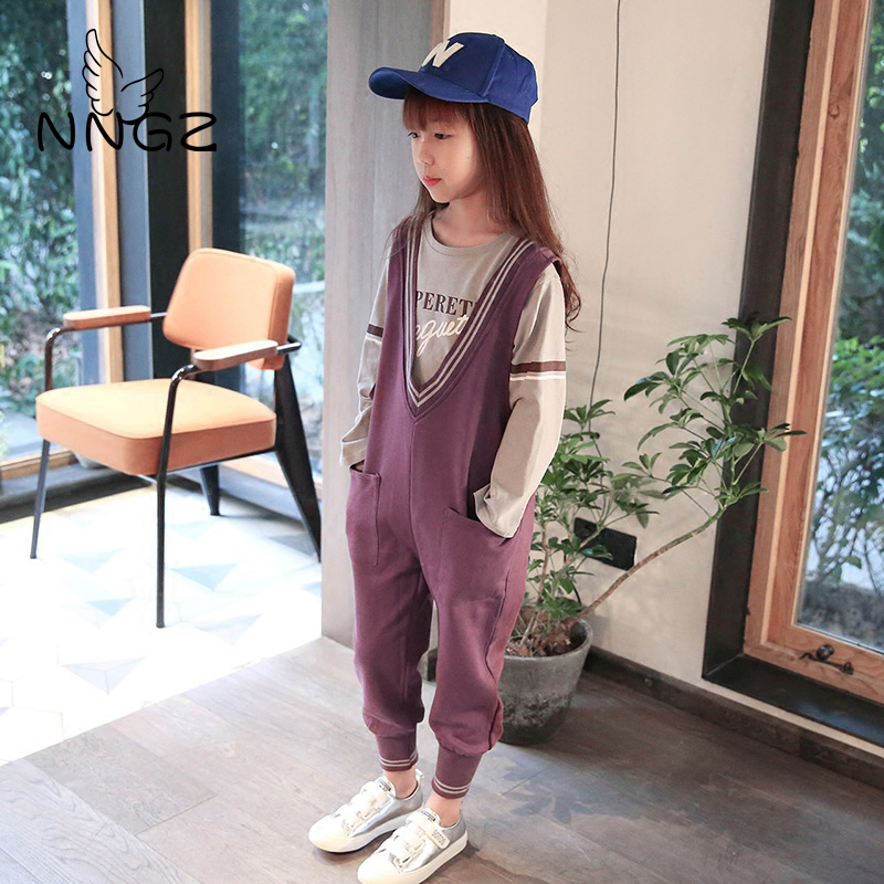 NNGZ Women Clothes Units 2019 Cotton Two-piece lengthy sleeve Youngsters Units Informal Vogue Women Garments Swimsuit Clothes Units, Low cost Clothes Units, NNGZ Women Clothes Units 2019 Cotton Two...