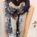 Платки марка большой платки женщины зима теплая шарфы пашмины платок поля и сады цветочные длинный шарф
