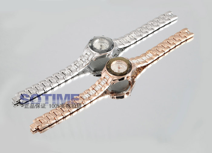 aço pulseira relógio cristal luxo vestido relógio