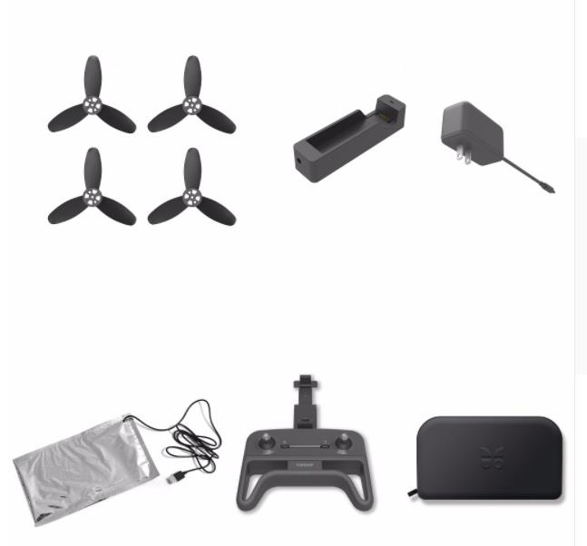 FUNSNAP iDol iDol-PR01 RC Drone Foldable Quadcopter spare parts blades Charger Adapter Remote controller Storage bag image