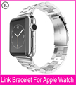 3 Pointers Silver Metal Watchband For Hoco Apple Watch Link Bracelet 42mm 38mm With 316L Stainless Steel Original Adapters