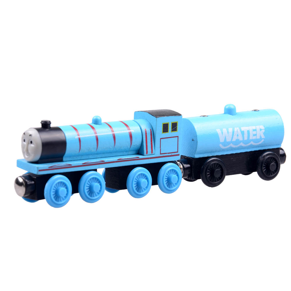 2pcs/lot Baby educational vehicle toys Wooden Magnetic Tomas Railway Train head Gordon and water car