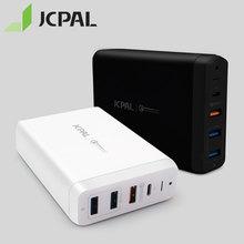 JCPAL Type C PD 충전기 60W 20V/3A 노트북 USB 빠른 충전기 3.0 18W 9V/2A 듀얼 USB 밴드 포트 여행 충전기 1.8M