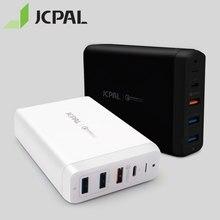 JCPAL type c PD chargeur 60W 20V/3A pour ordinateur portable USB chargeur rapide 3.0 18W 9V/2A double USB bande Ports chargeur de voyage avec 1.8M