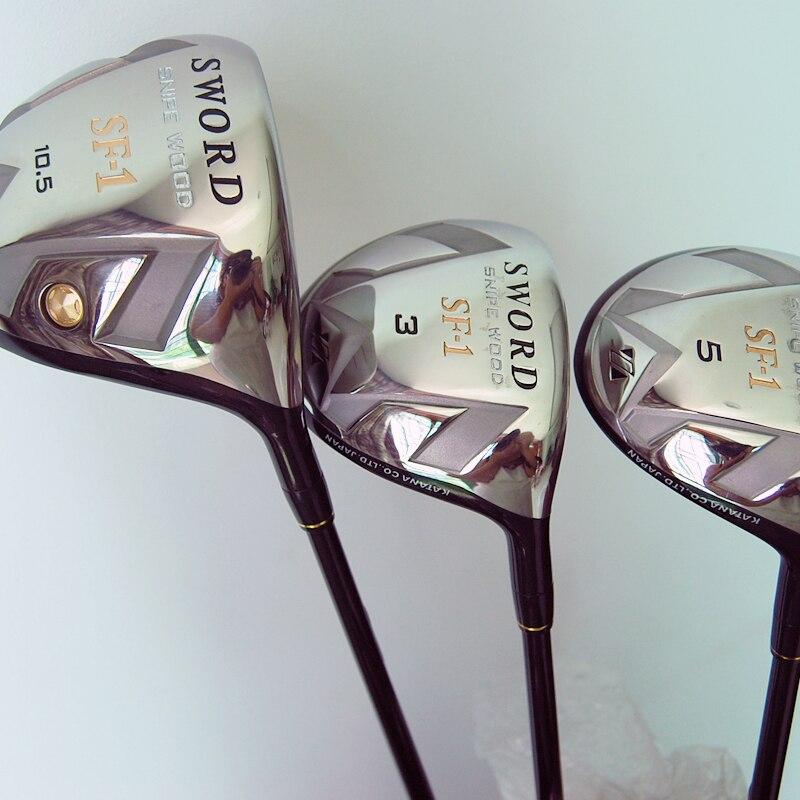 Cooyute nuevos mens golf clubs espada katana sf-1 madera del golf conductor + 3/