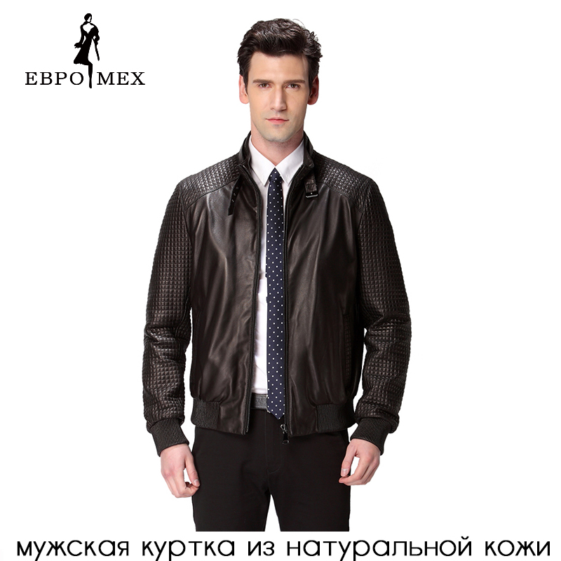 Jacket Coat Sheepskin Motorcycle Genuine-Leather Fashion Black Man Men Popular