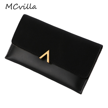 Long V Women Leather Bifold Wallet High Quality Hasp ID Card Holder Billfold Clutch Purse Zip Pocket