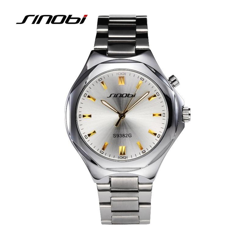 SINOBI Elengat Homens De Negócios De Quartzo-relógios De Prata - Relógios masculinos