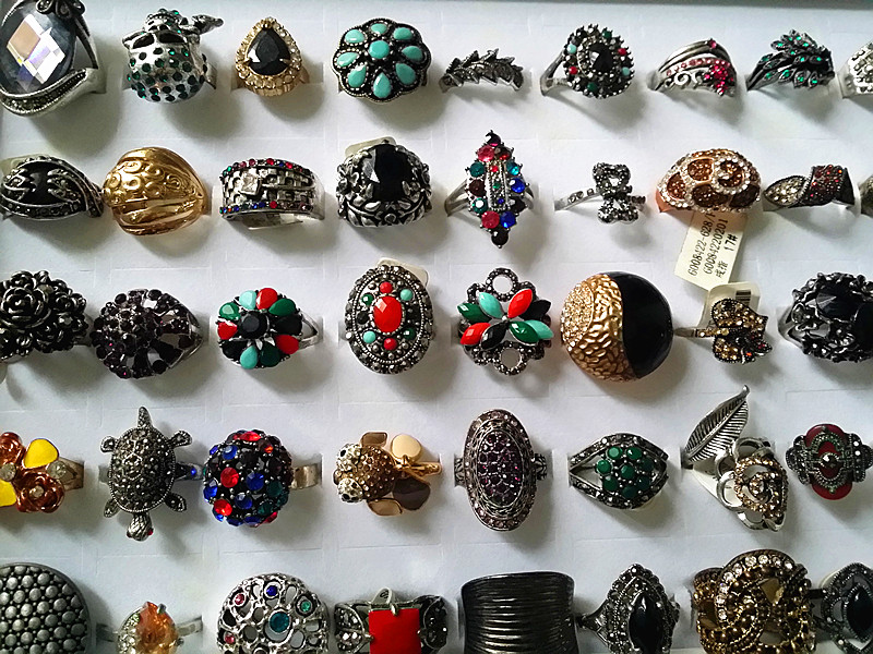 vintage bonito mixed estilos liga joias aneis lotes por atacado 02