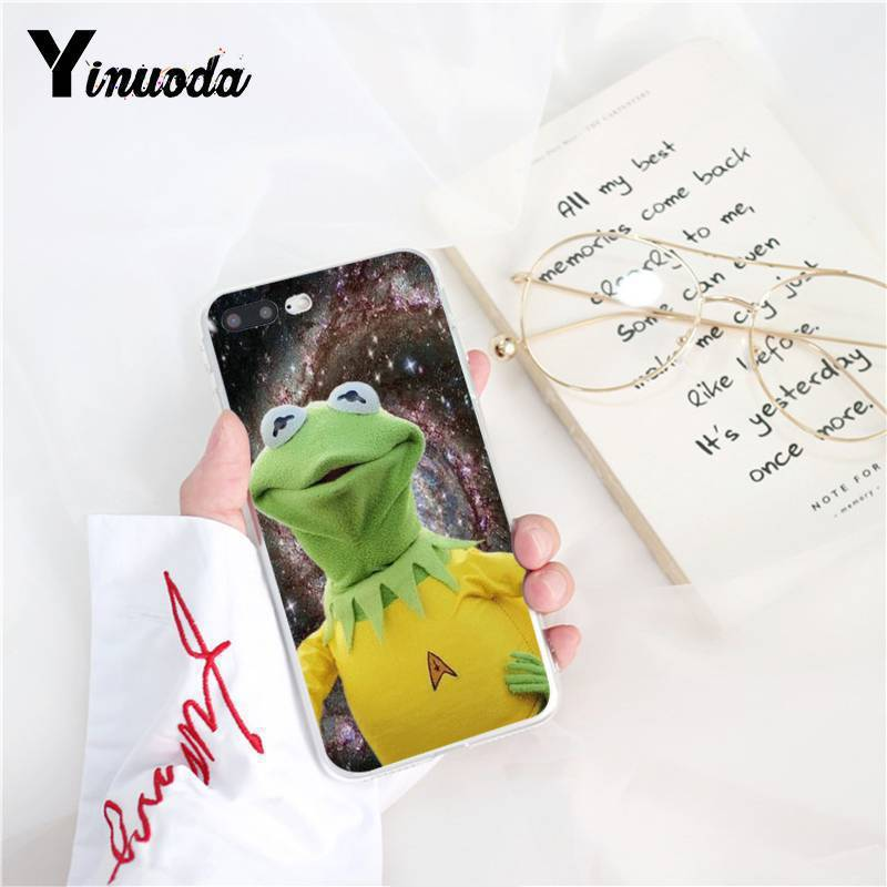 Yinuoda Kermit the frog Funny Cute Cover Soft Shell Phone Case for iPhone 8 7 6 6S Plus X XS MAX 5 5S SE XR 10 Cover Capa