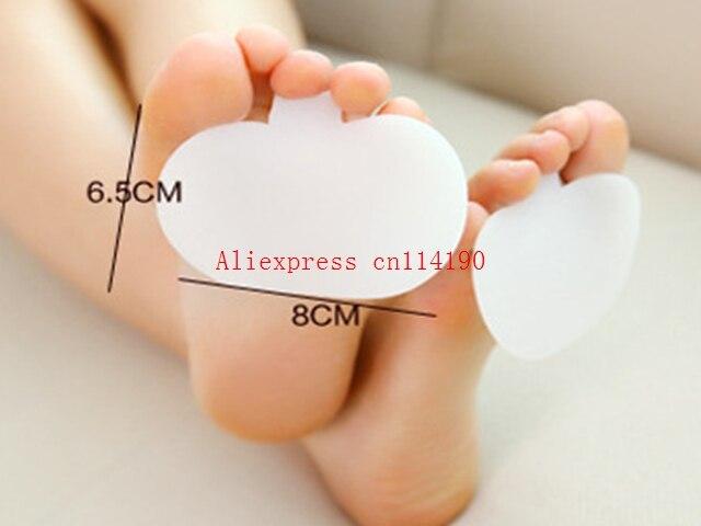 2 stücke Dicke Medizinische Silikon Toe Pads Gel Vorfuß Pad