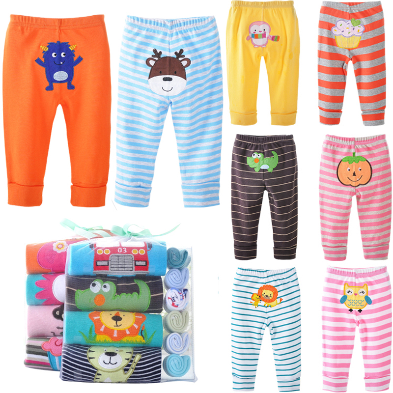 5/3/1Pcs/lot Newborn Baby Pants Spring Baby Girl Clothes Cartoon Infant Trousers Autumn Baby Boy Clothing Random Kids Clothes(China)