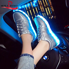 Unisex Low Light up Led Sneakers Rechargable Flashing Shoes