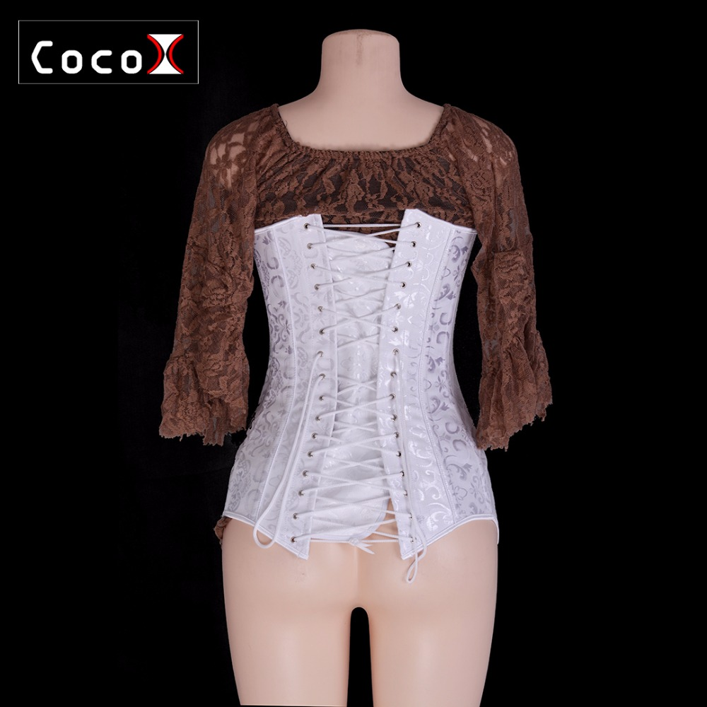 f760ac661e1 26 Double Steel Boned Long Line Corset Overbust Long Torso Waist Corset-in  Bustiers   Corsets from Underwear   Sleepwears on Aliexpress.com