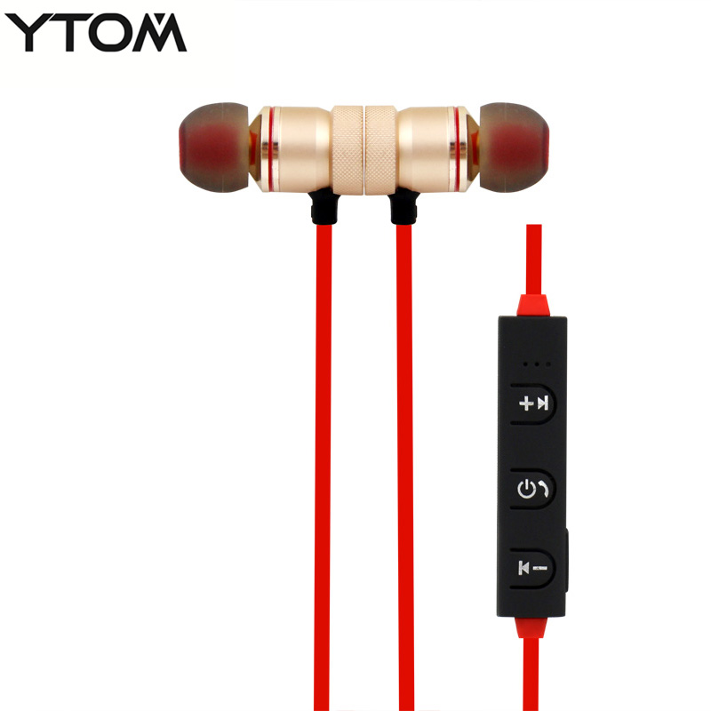 YTOM Magnetic wireless Bluetooth headset headphones sport running wireless earphone earbuds for apple xiaomi LG sony meizu wireless bluetooth headset running earphone ear hook with mic earbuds for apple meizu xiaomi mobile pc lg sports headphones