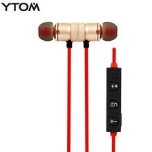 YTOM Magnetic wireless Bluetooth headset headphones sport running wireless earphone earbuds for apple xiaomi LG sony meizu