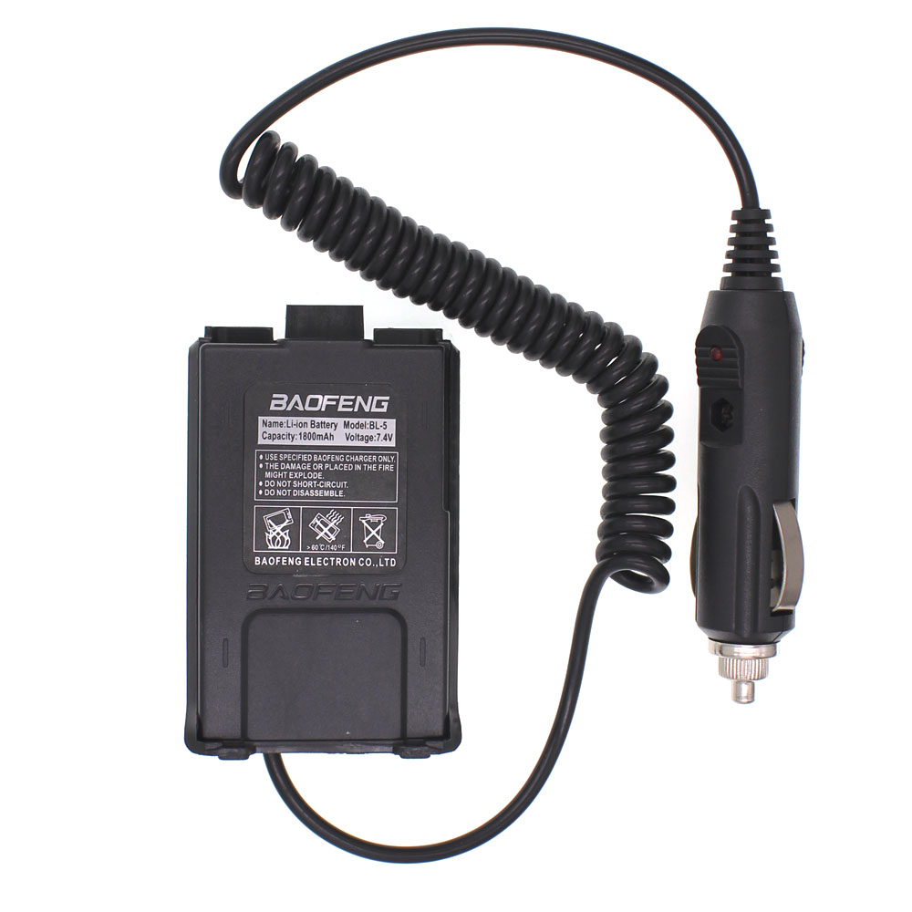 Baofeng 12V Car Charger Battery Adapter Eliminator For Baofeng Walkie Talkie UV5R UV-5R UV-5RE Plus UV-5RA Plus DM-5R Plus Radio