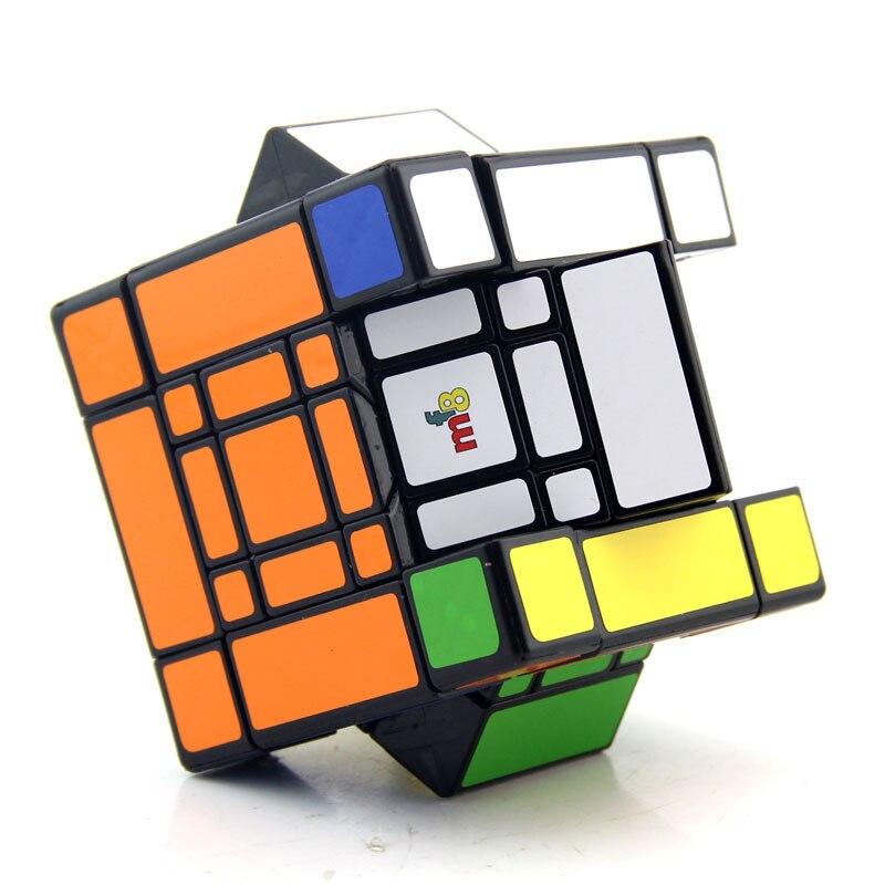 MF8 Mère et Fils Doulbe 3x3x3 puzzle de cubes Noir Autocollant Cubo jouets magiques Pour Enfants Étrange Forme Twisty cube Fils-Maman - 5