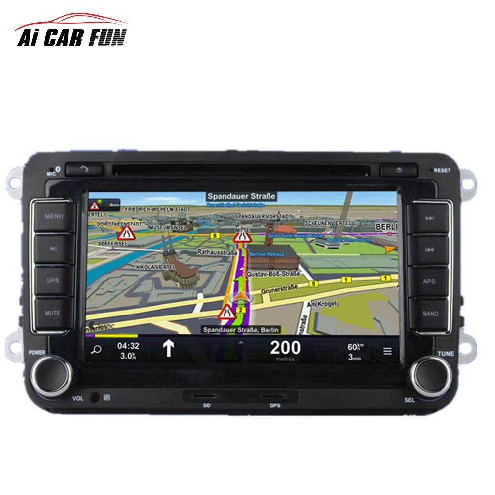 2 Din GPS De Voiture DVD Radio Lecteur Universel 7 pouce pour Volkswagen Caméra De Recul Médias MP5 Lecteur 2din voiture navigation