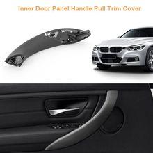 Revêtement dhabillage de traction de voiture de poignée de panneau de porte intérieure de berline pour le noir de la série F30 de BMW 3