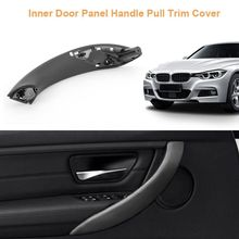 Sedan Inner Door Panel Handle Car Pull Trim Cover for BMW 3 Series F30 Black