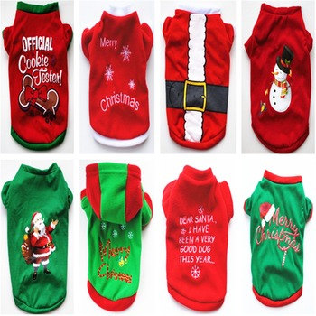 Christmas Pet Dog Clothes For Small Medium Dogs Xmas Puppy Dog Sweater For French Bulldog Yorkies Dogs Pets Clothing Pullover image