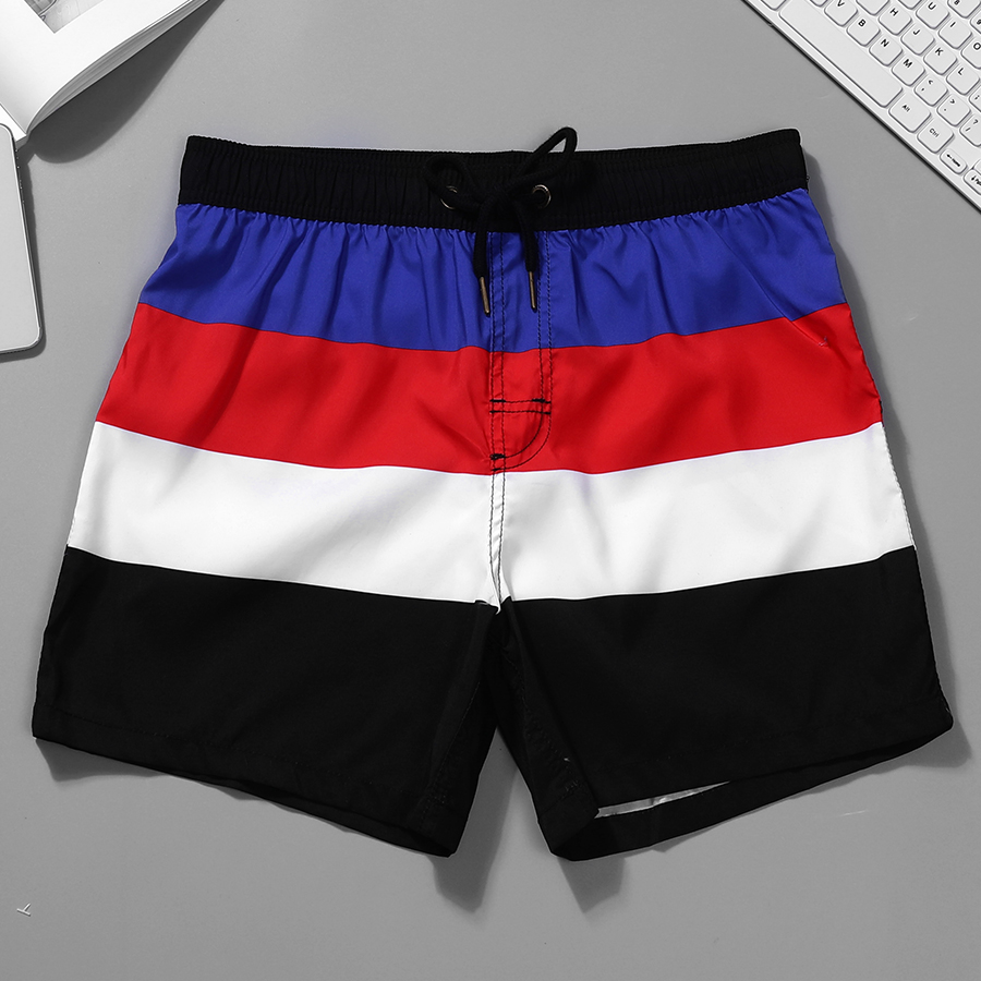 Newest Men's Striped   Board     Shorts   Beach   Shorts   Men Surfing Swimwear Male Swim Trunks Boardshorts Maldives Bathing Suit Men