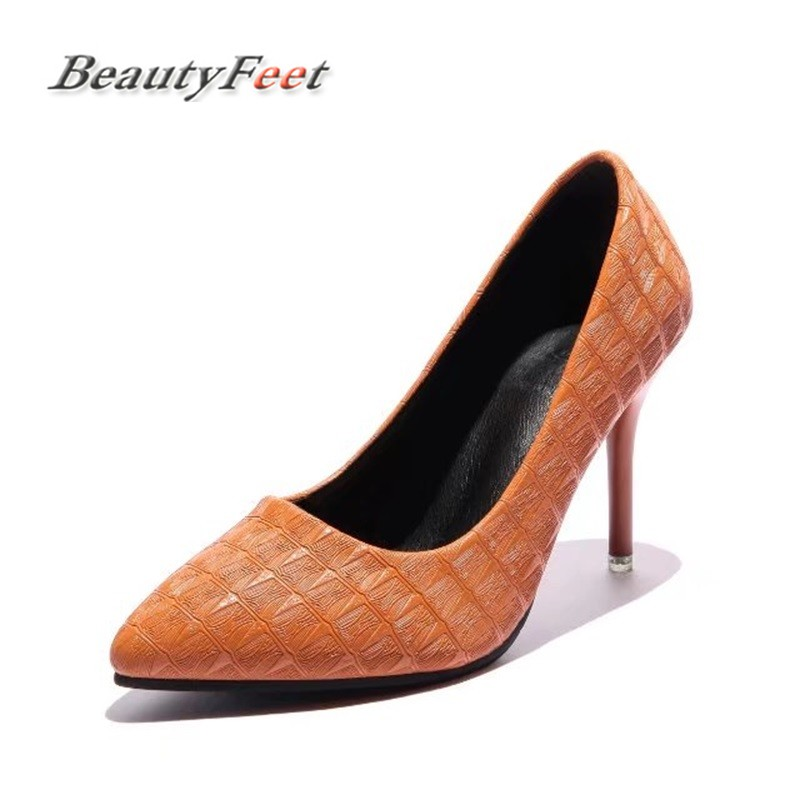 BeautyFeet Spring Summer Fashion Sexy Women Shoes Woman Platform Pumps  9.5cm High Heels Pointed Toe ed32061ae4dd