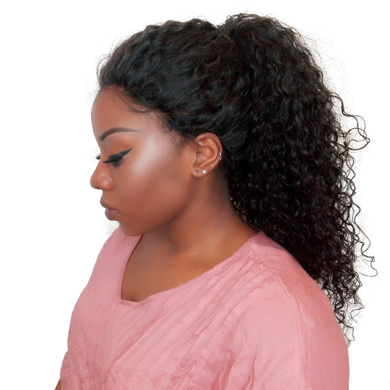 Lace Front Human Hair Wigs Brazilian Curly Wig Bleached Knots 250% Density Lace Front Wigs With Baby Hair Pre Plucked You May