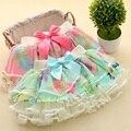 2017 nuevo arco iris tutú de la falda para el bebé 2-7 años los niños faldas de La Gasa de tulle de la muchacha azul y rosa roja falda de la princesa del bebé-ropa 0d23