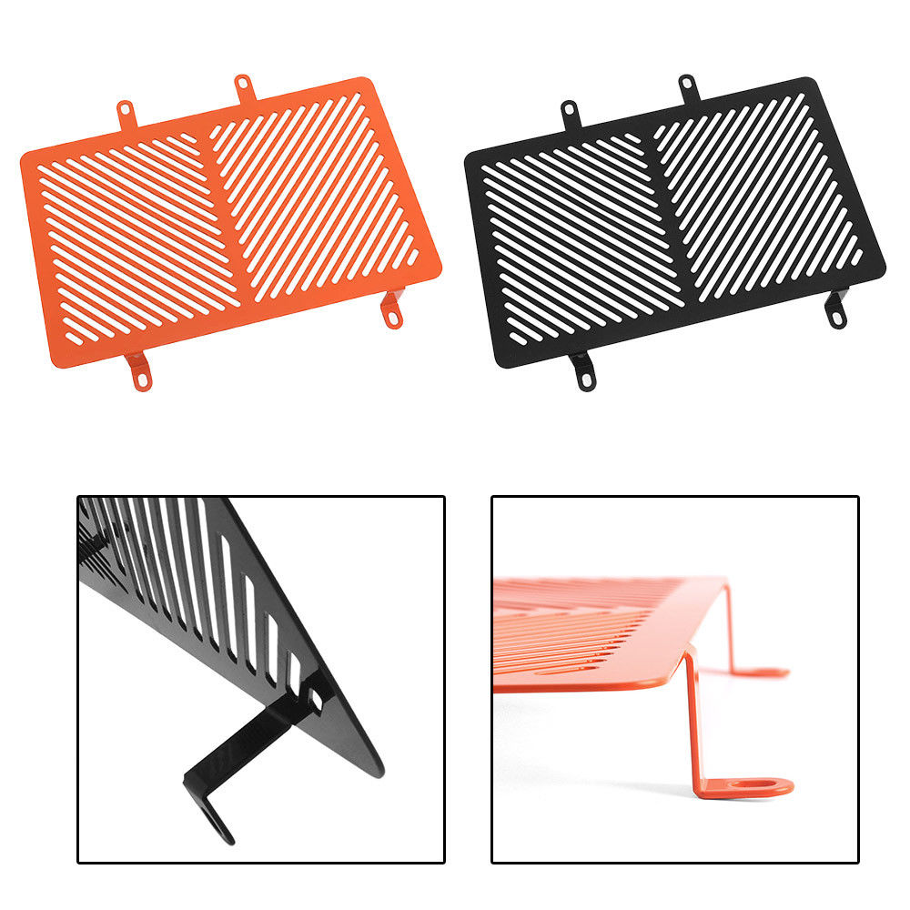 Motorcycle RC 390 Radiator Guard Coolant Grille Grill Cover Net Protector for 2015-2018 KTM RC125 200 390 2016 2017Motorcycle RC 390 Radiator Guard Coolant Grille Grill Cover Net Protector for 2015-2018 KTM RC125 200 390 2016 2017