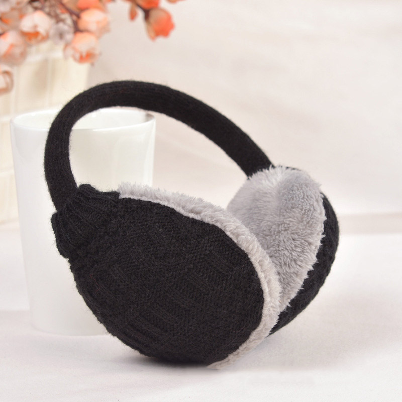 New Winter Knitted Earmuffs For Women Ear Protector Warm Ear Muffs Cover Plush Winter Washable Ear Warmers