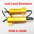 4x 6ohm 50 W Para lâmpada LED Turn Signal Nevoeiro Correndo Luz de Carga Resistor Correção de Erro do Flash Canbus Livre de Erros