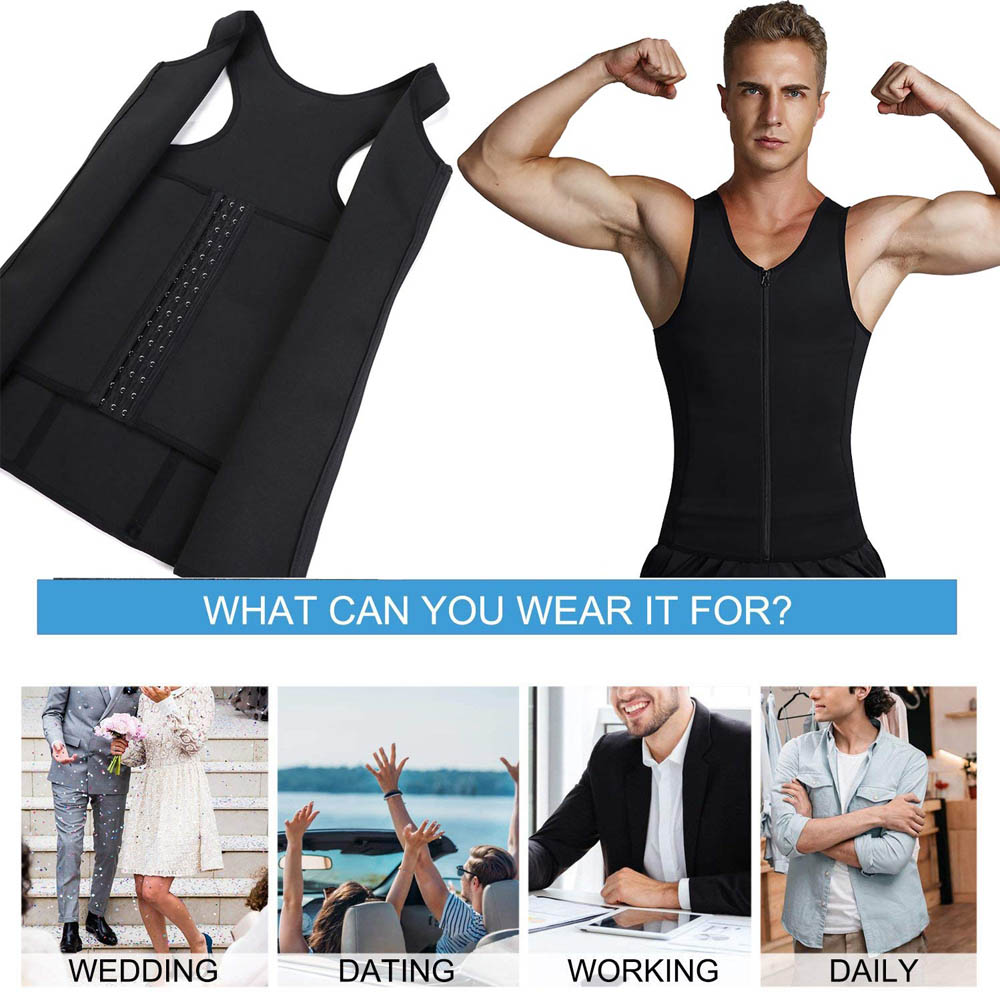 Image 5 - Lover Beauty Men Shapewear Slimming Compression Shirt for Body Slimming Tank Top Shaper Tight Undershirt Tummy Control Girdle-in Shapers from Underwear & Sleepwears