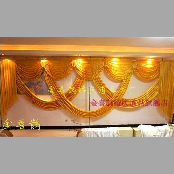Lusso ed elegante 6 metro lungo da sposa festoni per la cerimonia nuziale scenografia tendaggi decorazione partito di evento-in Sfondi per party da Casa e giardino su  Gruppo 1
