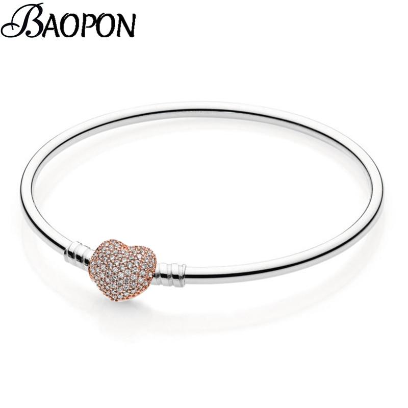 BAOPON новый модный кубический цирконий тонкий браслет и браслет Diy Браслеты Mujer браслет для Для женщин Свадебные украшения