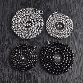 chain 304 Chain DIY Accessories Black Silver Chain Pendant Small Chain O Chain EDC Tools