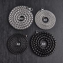 Цепочка 304 аксессуары «сделай сам» черная серебряная цепочка